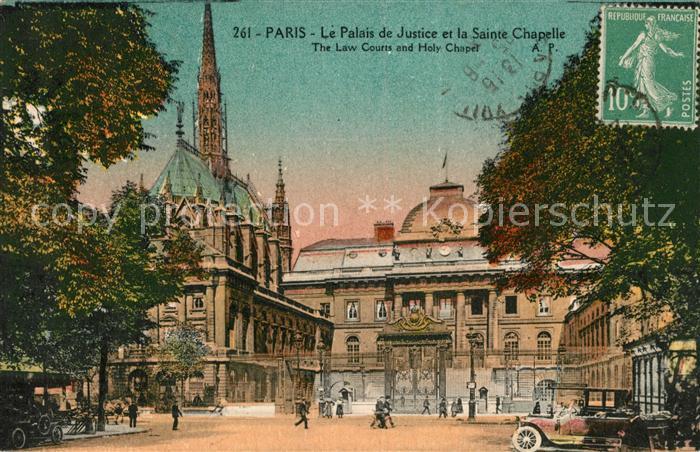 AK / Ansichtskarte Paris Le Palais de Justice et la Sainte Chapelle Kat. Paris