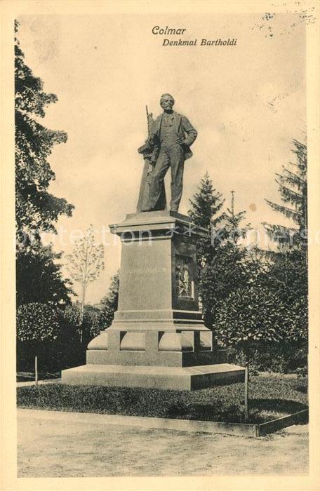 AK / Ansichtskarte Colmar Haut Rhin Elsass Denkmal Bartholdi Kat. Colmar