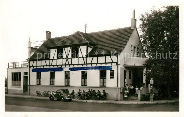 AK / Ansichtskarte Neuf Brisach Cafe Restaurant au Pont du Rhin Kat. Neuf Brisach