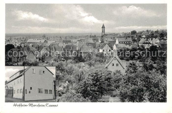 AK / Ansichtskarte Marxheim Taunus Gasthaus zum Adler Panorama Kat. Hofheim am Taunus