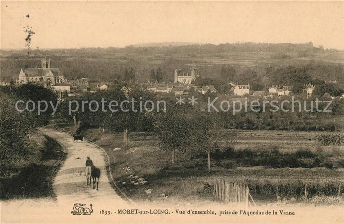 AK / Ansichtskarte Moret sur Loing Vue d'ensemble prise de l'Aqueduc de la Vanne Kat. Moret sur Loing