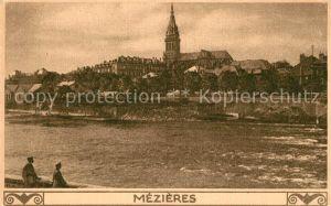 AK / Ansichtskarte Mezieres au Perche Teilansicht mit Kirche Kat. Mezieres au Perche
