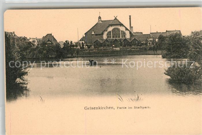 AK / Ansichtskarte Gelsenkirchen Partie im Stadtpark Kat. Gelsenkirchen
