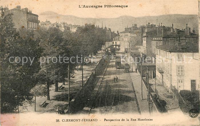 AK / Ansichtskarte Clermont Ferrand Perspective de la Rue Montlosier Kat. Clermont Ferrand