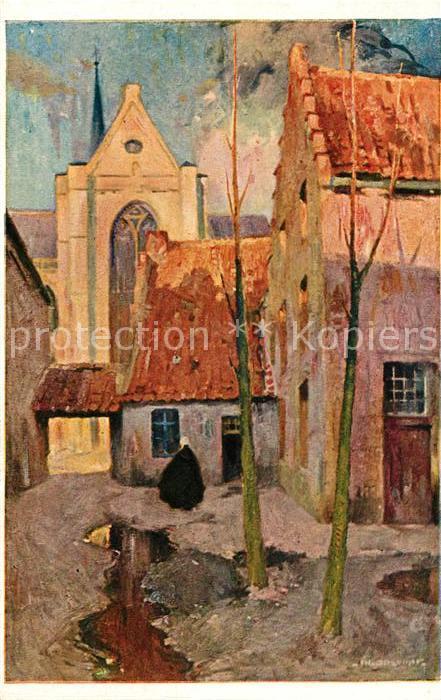 AK / Ansichtskarte Lierre Vieilles Maison Dessin Kuenstlerkarte Kat.