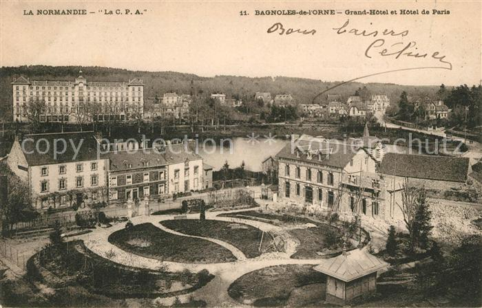 AK / Ansichtskarte Bagnoles de l Orne Grand Hotel et Hotel de Paris Kat. Bagnoles de l Orne