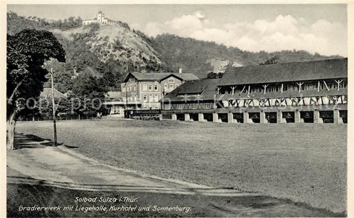AK / Ansichtskarte Bad Sulza Gradierwerk mit Liegehalle Kurhotel Sonnenburg Kat. Bad Sulza