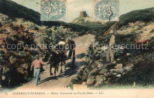 AK / Ansichtskarte Clermont Ferrand Puy de Dome Retour d'ascension au Puy de Dome Kat. Clermont Ferrand