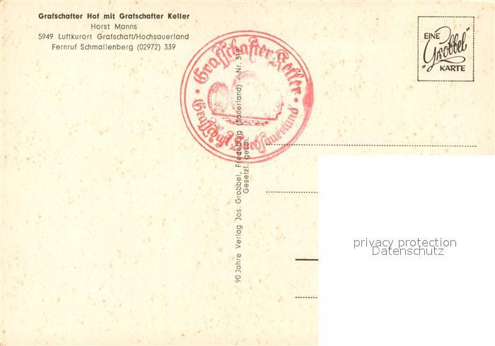 AK / Ansichtskarte Grafschaft Sauerland Grafschafter Hof Grafschafter Keller Kat. Schmallenberg 1