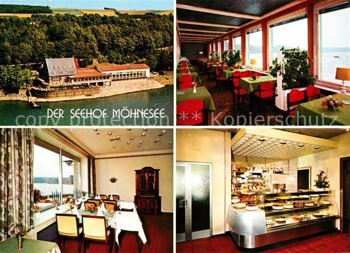 AK / Ansichtskarte Guenne Restaurant Cafe Der Seehof Kat. Moehnesee