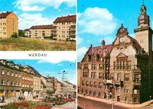 AK / Ansichtskarte Werdau Sachsen Rathaus Marktplatz Kat. Werdau