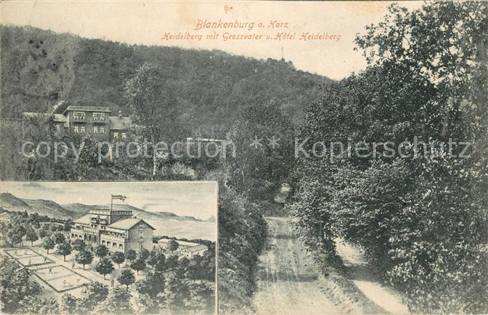 AK / Ansichtskarte Blankenburg Harz Heidelberg mit Grossvater und Hotel Heidelberg Kat. Blankenburg
