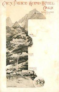 AK / Ansichtskarte Rochers de Naye Caux Palace Grand Hotel Glion Territet Kat. Rochers de Naye
