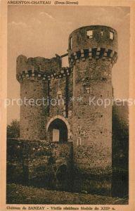 AK / Ansichtskarte Argenton Chateau Chateau de Sanzay  Kat. Argenton les Vallees