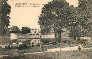 AK / Ansichtskarte Le Raincy Le Jardin Public et la Piece d eau Kat. Le Raincy