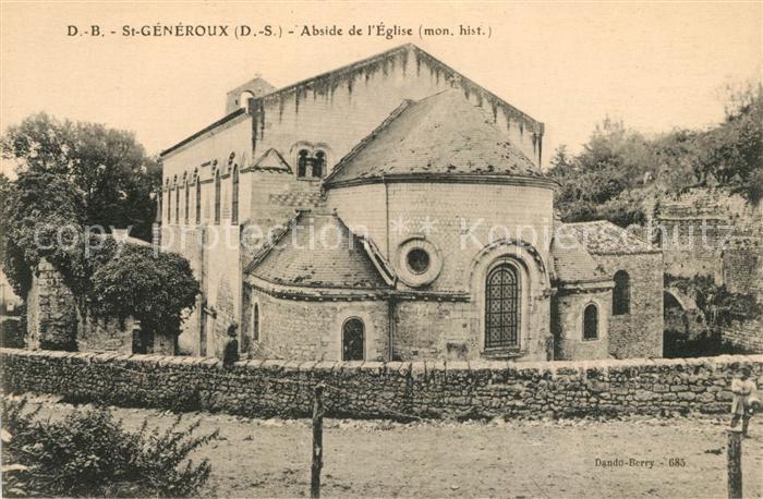 AK / Ansichtskarte Saint Generoux Abside de Eglise Kat. Saint Generoux