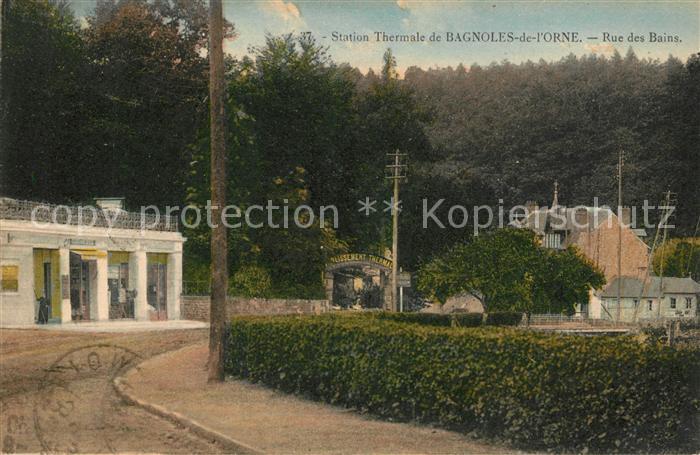AK / Ansichtskarte Bagnoles de l Orne Rue des Bains Station Thermale Kat. Bagnoles de l Orne