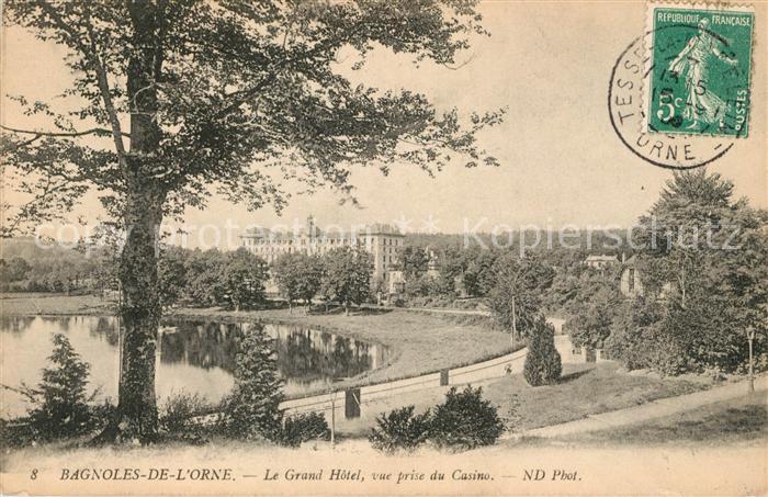 AK / Ansichtskarte Bagnoles de l Orne Grand Hotel vue prise du Casino Kat. Bagnoles de l Orne