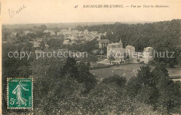 AK / Ansichtskarte Bagnoles de l Orne Vue sur Tesse la Madeleine Kat. Bagnoles de l Orne