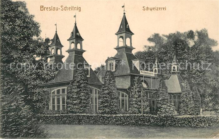 AK / Ansichtskarte Breslau Scheitnig Schweizerei