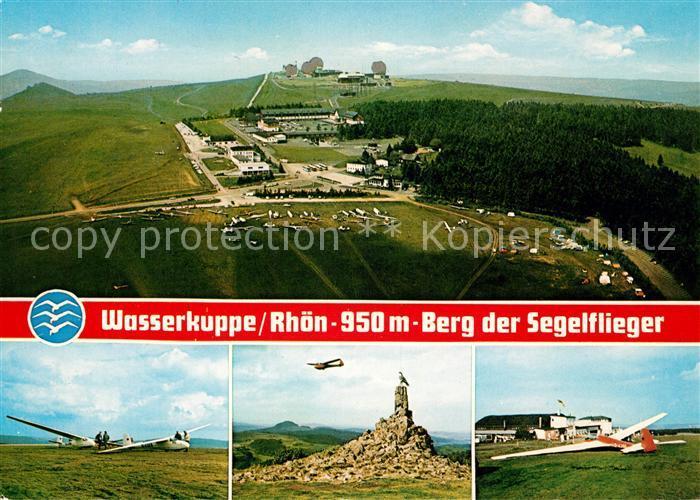 AK / Ansichtskarte Wasserkuppe Rhoen Berg der Segelflieger Kat. Poppenhausen (Wasserkuppe)