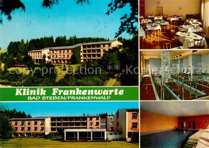 AK / Ansichtskarte Bad Steben Klinik Frankenwarte Kat. Bad Steben