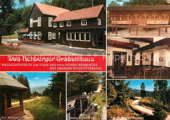 AK / Ansichtskarte Andreasberg Harz St Waldgaststaette Rehberger Grabenhaus Kat. Sankt Andreasberg