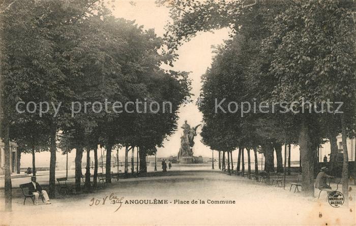 AK / Ansichtskarte Angouleme Place de la Commune Kat. Angouleme