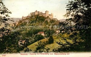 AK / Ansichtskarte Salzburg Oesterreich Festung Hohensalzburg mit Untersberg vom Kapuzinerberg gesehen Kat. Salzburg