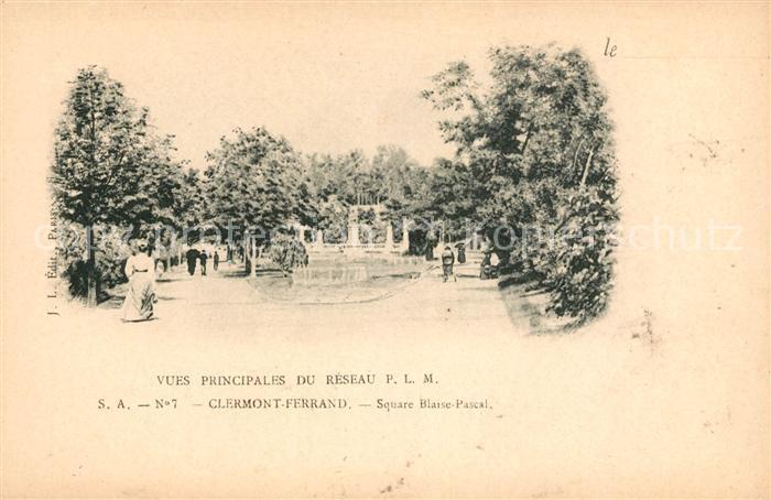 AK / Ansichtskarte Clermont Ferrand Puy de Dome Square Blaise Pascal Kat. Clermont Ferrand