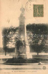 AK / Ansichtskarte Saint Maixent l Ecole Statue Gambetta Monument Kat. Saint Maixent l Ecole