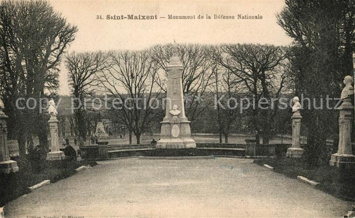AK / Ansichtskarte Saint Maixent l Ecole Monument de la Defense Nationale Kat. Saint Maixent l Ecole