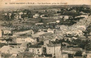 AK / Ansichtskarte Saint Maixent l Ecole Vue sud ouest prise du Clocher Kat. Saint Maixent l Ecole