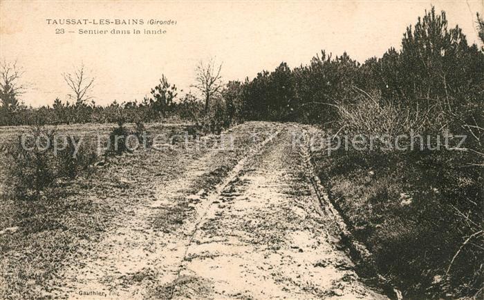 AK / Ansichtskarte Taussat les Bains Sentier dans la lande Kat. Lanton