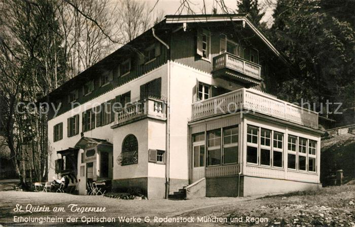 AK / Ansichtskarte Quirin St Erholungsheim Rodenstock Kat. Gmund a.Tegernsee