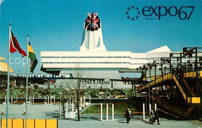 AK / Ansichtskarte Exposition Universelle Internationale Montreal 1967 Pavillon de la Grande Bretagne