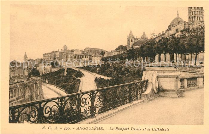 AK / Ansichtskarte Angouleme Le Rempart Desaix et la Cathedrale Kat. Angouleme