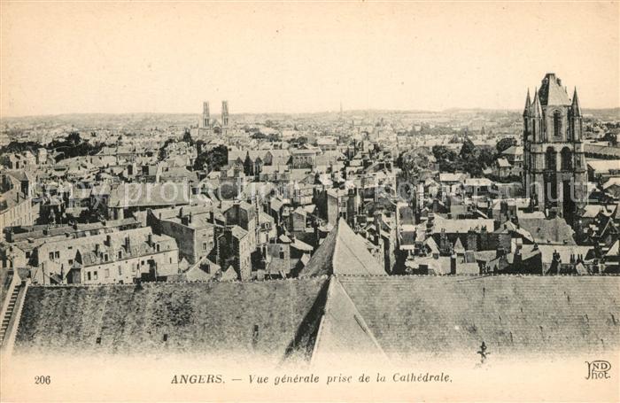AK / Ansichtskarte Angers Vue prise de la Cathedrale Kat. Angers