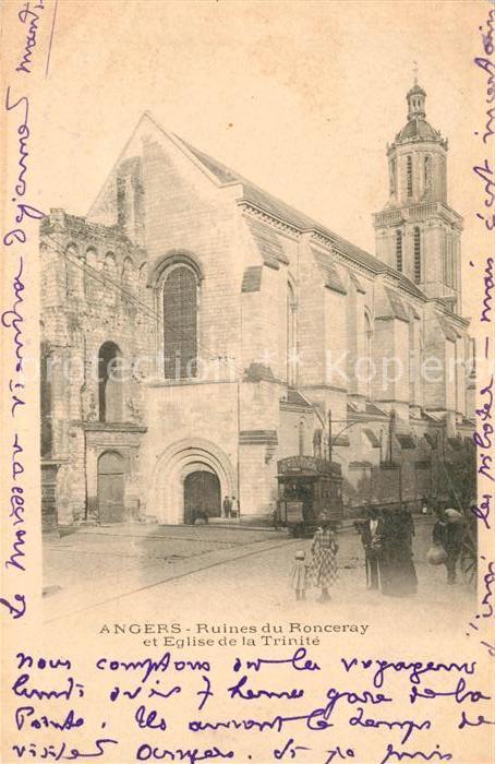 AK / Ansichtskarte Angers Ruines du Ronceray et Eglise de la Trinite Kat. Angers
