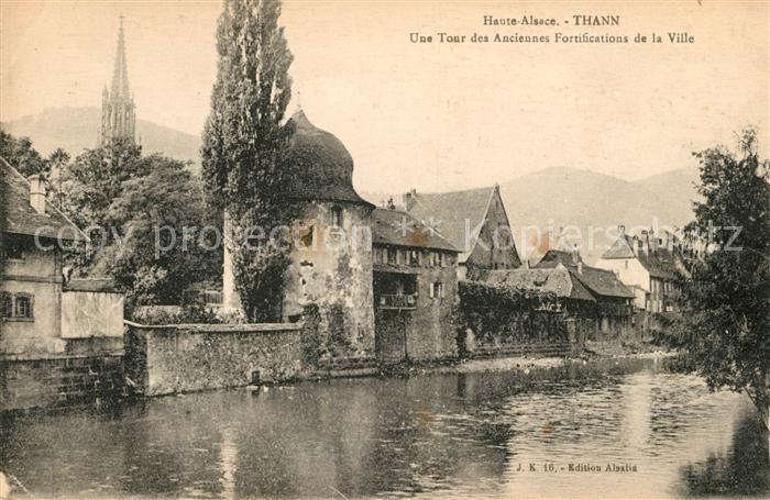 AK / Ansichtskarte Thann Haut Rhin Elsass Une Tour des Anciennes Fortifications de la Ville Kat. Thann