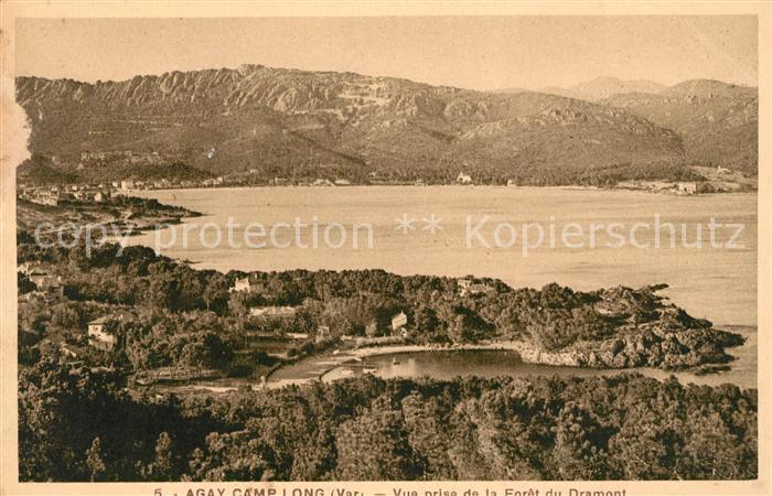 AK / Ansichtskarte Agay Var Camp Long Beach vue prise de la Foret du Dramont Kat. Saint Raphael