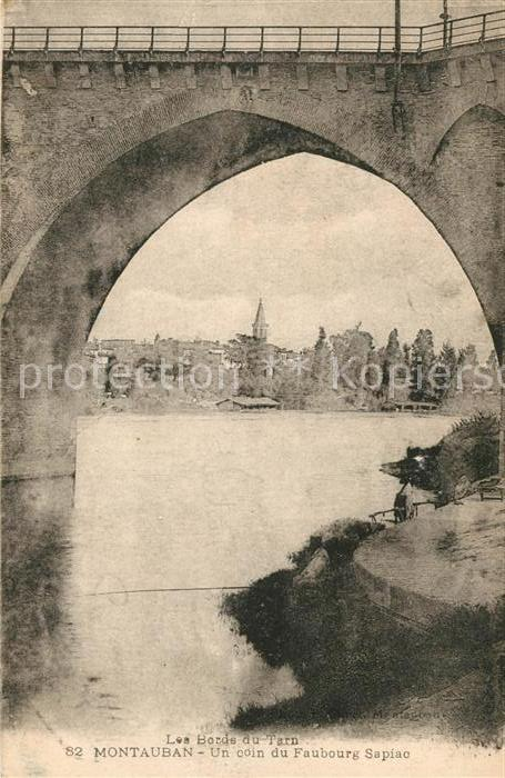 AK / Ansichtskarte Montauban Un coin du Faubourg Sapiac Pont Kat. Montauban