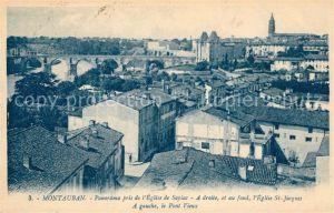 AK / Ansichtskarte Montauban Panorama pris de l Eglise de Sapiac Eglise St Jacques et pont vieux Kat. Montauban