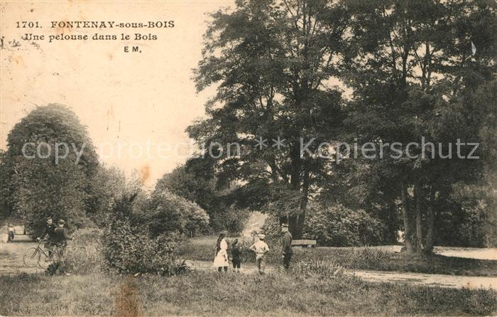 AK / Ansichtskarte Fontenay sous Bois Une pelouse dans le Bois Kat. Fontenay sous Bois