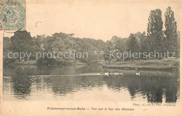 AK / Ansichtskarte Fontenay sous Bois Vue sur le Lac des Minimes Kat. Fontenay sous Bois