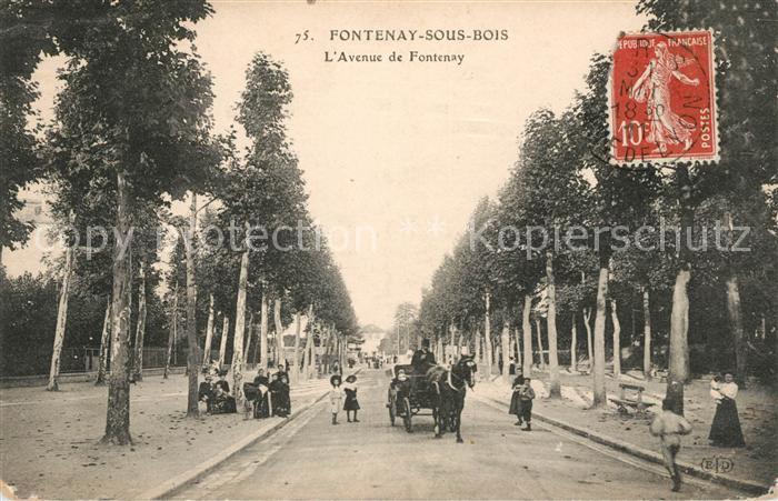AK / Ansichtskarte Fontenay sous Bois Avenue de Fontenay Pferdedroschke Kat. Fontenay sous Bois