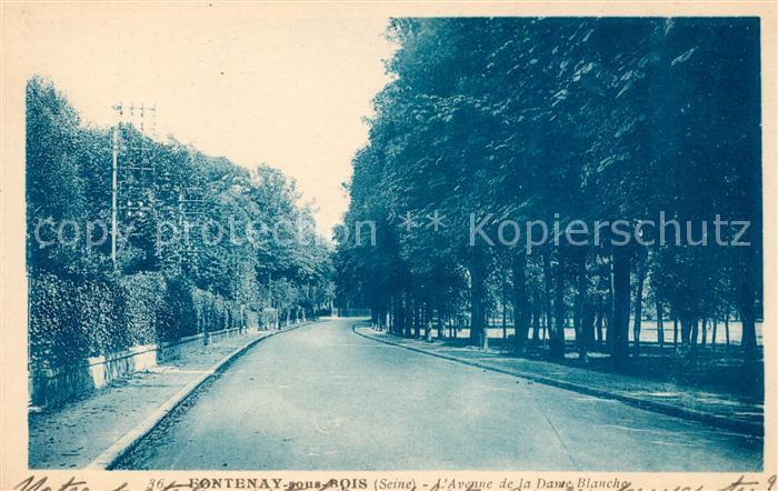 AK / Ansichtskarte Fontenay sous Bois Avenue de la Dame Blanche Kat. Fontenay sous Bois