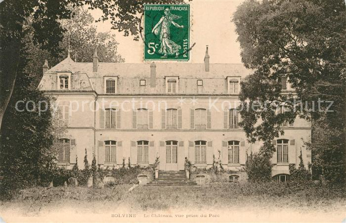 AK / Ansichtskarte Solvins Dadonville Chateau vue prise du Parc