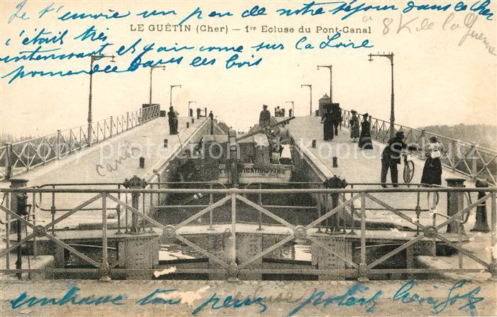 AK / Ansichtskarte Le Guetin 1re Ecluse du Pont Canal
