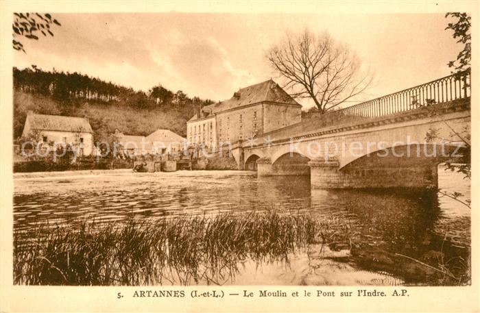 AK / Ansichtskarte Artannes sur Indre Le Moulin et le Pont sur l Indre Kat. Artannes sur Indre